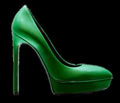 Green high heels